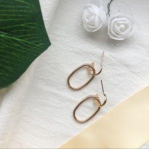 Jewelry - Sterling Silver Dainty Gold Oval Hoop Earrings
